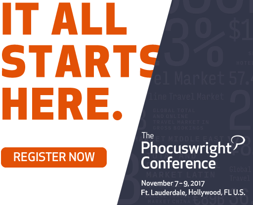 The Phocuswright Conference 2017, November 7 -9, Ft. Lauderdale/Hollywood, Florida
