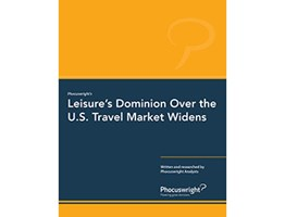 Leisure's Dominion over the U.S. Travel Market Widens