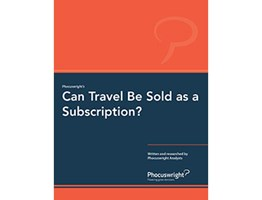 Can Travel Be Sold as a Subscription?